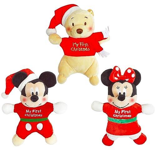 d5881e121 Disney Christmas Plush Toys Set for Baby Boys and Girls -- 3 Musical Plush  Toys