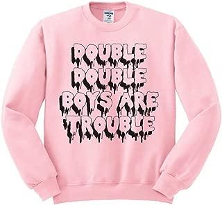 Double Double Boys are Trouble Halloween Sweatshirt Unisex