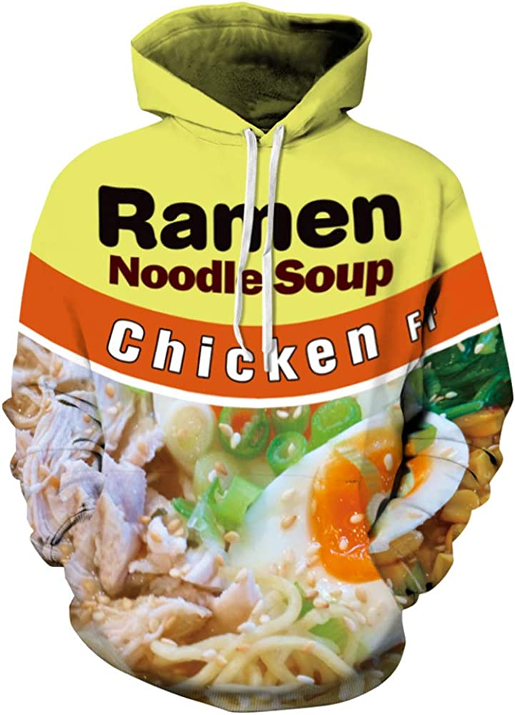 Azuki Ramen Graphics Hoodie Sweatshirt-Size S
