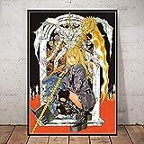 WDQFANGYI Carteles De Death Note, Serie Clásica De Anime, Impresiones En Lienzo, Decoración De Habitación De Bar, Pintura, Imagen Artística, 40X50Cm (FLL6677)