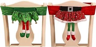 ZSWQ 2Pcs Cubierta de la Silla de Navidad Navidad Cocina Comedor Silla Cubiertas Decoracion Articulo de Decoración de Mesa Accesorio de Adorno para Fiesta y Cena