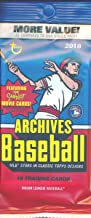 2018 Topps Archives Baseball EXCLUSIVE Factory Sealed Jumbo Fat Pack with 18 Cards including Coming Attractions Insert! Look for Auto's of Mike Trout, Shohei Ohtani, Ronald Acuna, Derek Jeter & More!