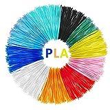 Filamenti Penna 3D, Tecboss PLA Filamento 1.75mm, 10 Colore Materiali 3D Filamenti per la Stampa 3D...