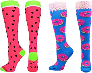 MadSportsStuff Neon Watermelon Athletic Over The Calf Socks