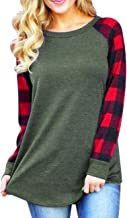 Miskely Women's Casual Color Block Long Sleeve Pullover Blouse with Pocket Loose Lightweight Tunic Tops Sweatshirt