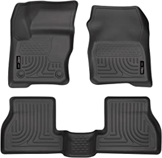 Husky Liners 98771 Fits 2012-2015 Ford Focus Weatherbeater Front & 2nd Seat Floor Mats, Black