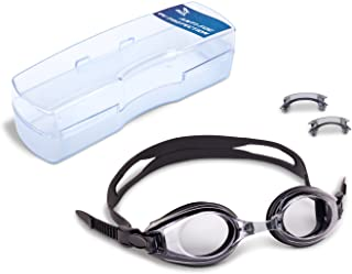 0d82419926c FREE Shipping on eligible orders. IST RX Prescription Swim Goggle with  Optical Corrective UV Protection Anti-Fog Lenses