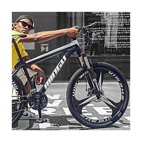 Mountain Bikes 26 Inch Men's Mountain Bikes, High-carbon Steel Hardtail Mountain Bike, Mountain Bicycle with Front Suspension…