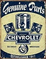 なまけ者雑貨屋 Chevy Parts - Pistons アンティーク インテリア プレート ブリキ メタル 看板