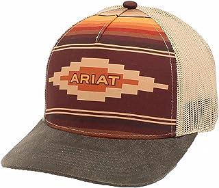 قبعة حريمي من ARIAT مطبوع عليها شعار أزتيك، أسمر ضارب للصفرة