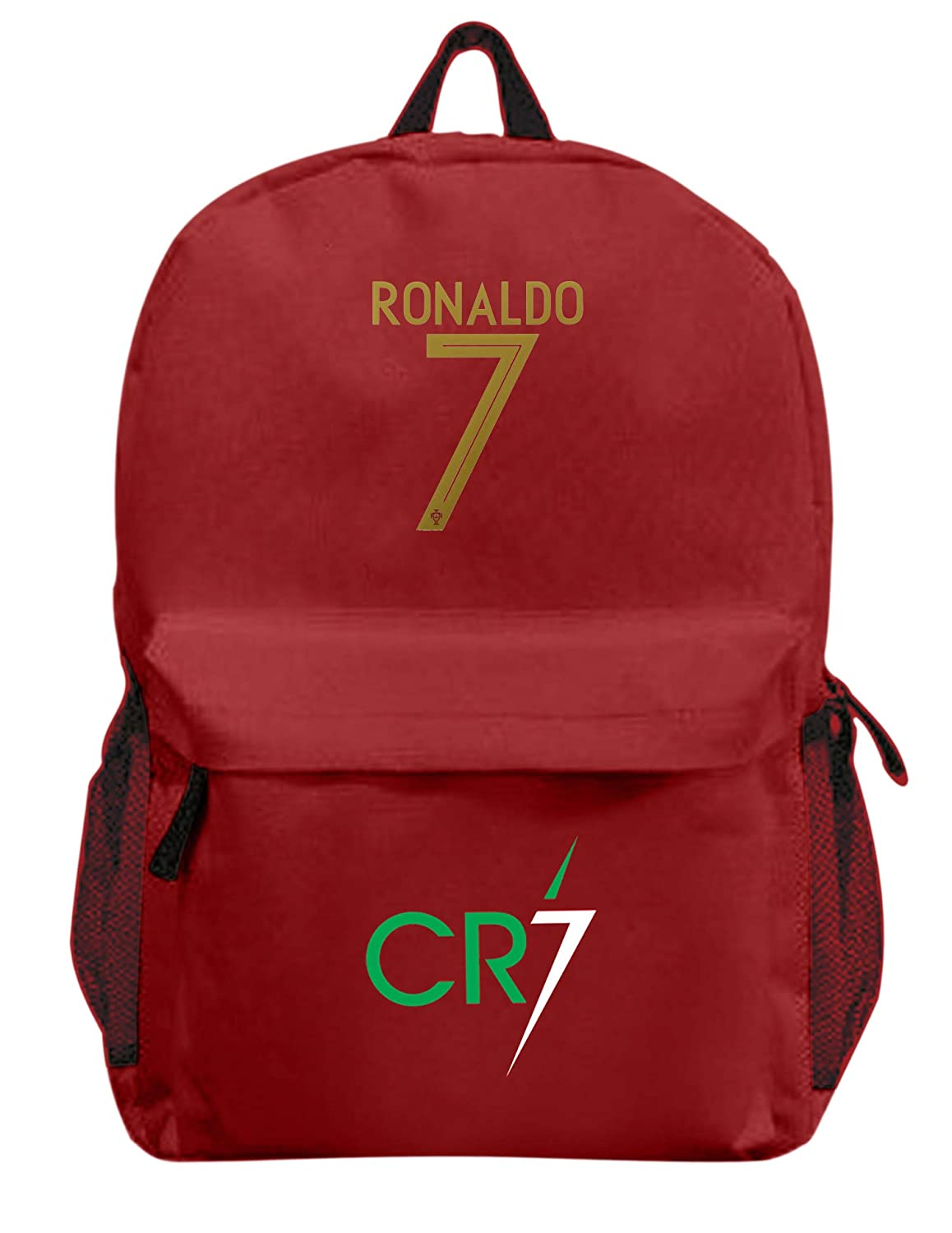 Cristiano Ronaldo #7 Soccer Picture Backpack Gift School Bag Dimensions H 16.3 x W 11.8 x D 5.9 in