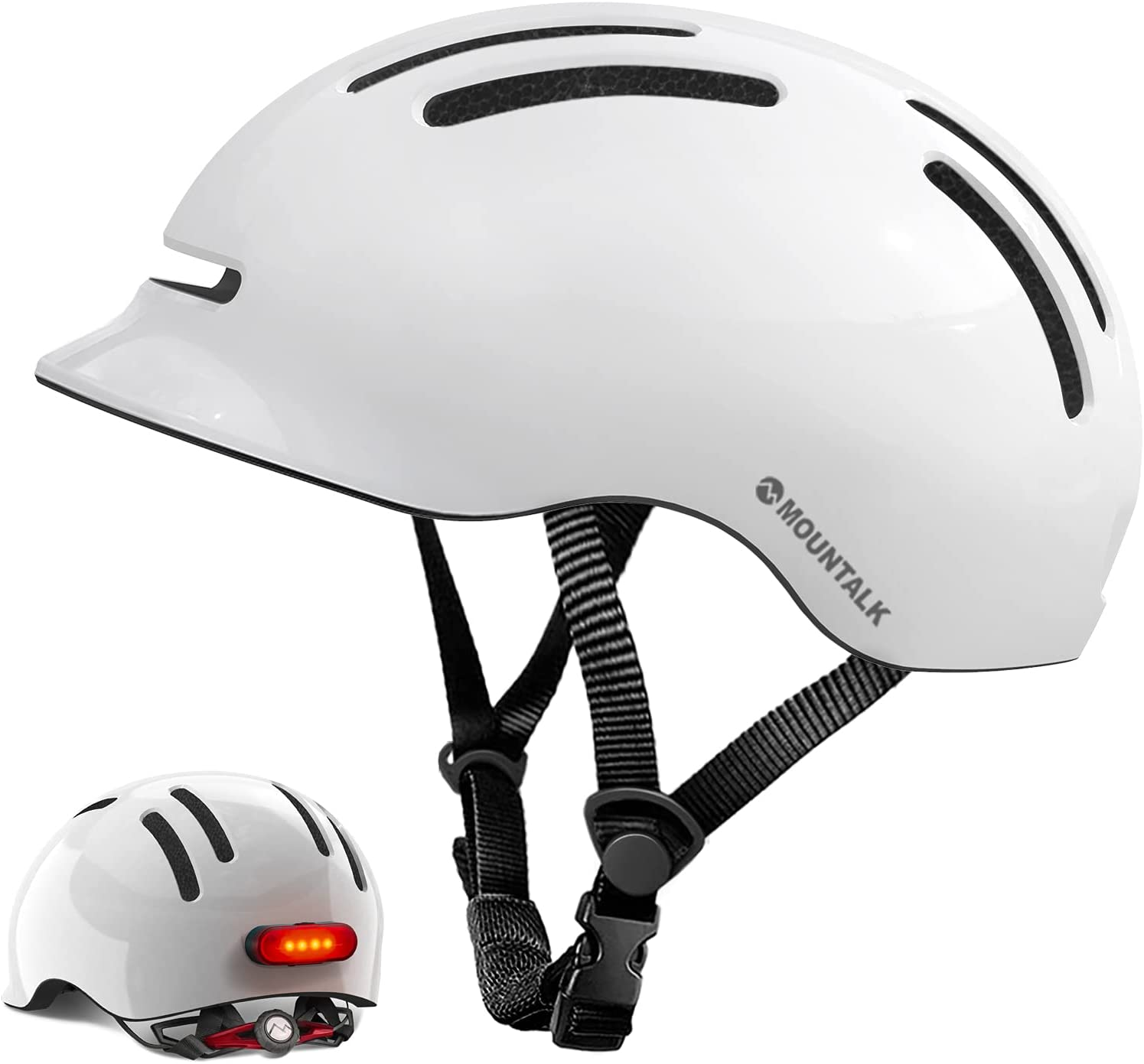 Mountalk Adult Bike Helmet with Light Cool Max 87% OFF H Mens Shipping included Women Bicycle