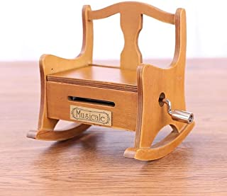 Vintage Music Box 15 Tone DIY Hand Cranked Wooden Chair Music Box With Hole Puncher Paper Tapes Creative DIY Wooden Music Box