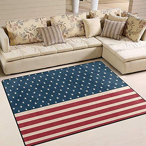 Saudade House Area Rugs Alfombras De Área I Love The USA Style Bandera Americana Alfombrilla Sala De Estar Dormitorio Sofá Alfombra Antideslizante Inicio Hotel Alfombra De Área Grande Alfombra