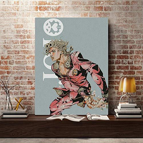 壁アート家の装飾ジョジョS奇妙なHdプリントモジュラー画像ポスター日本アニメーションキャンバス絵画寝室のアートワーク/ 50×70センチ(フレームなし)