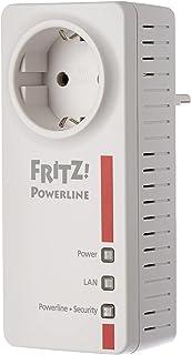 AVM FRITZ!Powerline 1220E Adapter (1.200 Mbit/s, 2 x Gigabit LAN, ideaal voor NAS-toepassingen en HD-streaming)
