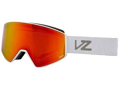 VonZipper Capsule (White Gloss Wavey/Wildlife Fire Chrome) Goggles