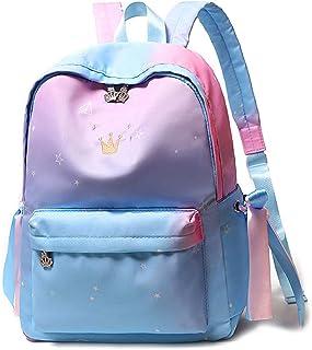 Girls School Bag Waterproof Backpack Large Capacity Backpack Slim Lightweight Suitable for Students, Travel