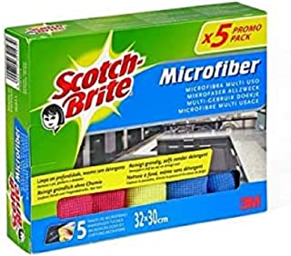 Scotch-Brite Chiffon microfibre premium, Lot de 5