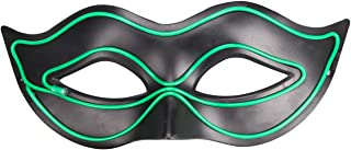 green leather mask