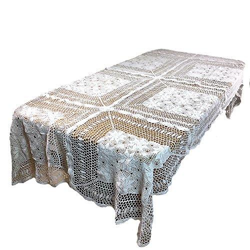 """Altotux Hecho a Mano Crochet Vintage Mantel Mesa Funda de Punto Home 60x 6060X 9060x 90"""""""