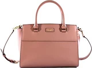Kate Spade Lana Grove Street Leather Women's Medium Crossbody Bag Purse Handbag, Dusty Peony