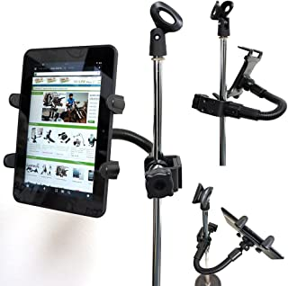 """ChargerCity 360° Rotation 12"""" Bendy Tough Metal Music Mic Microphone Stand Clamp Mount for 7-12 inch Screen Tablets for Ap..."""