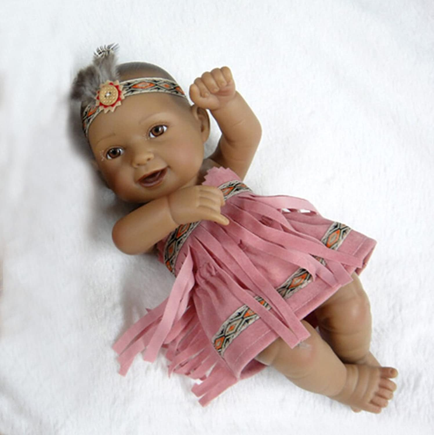 TERABITHIA Mini 11  Alive Newborn Baby Dolls Collectible Native American Indian Girl