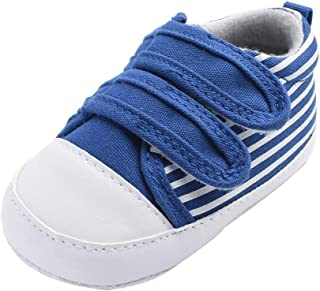 Boomboom Baby'Shoes Baby Boys Girls Canvas Toddler Sneaker Soft Sole Infant Prewalker Toddler Sneaker Shoes 0-24 Months