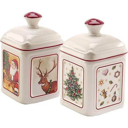 Villeroy & Boch - Special Offer Charm Confiturier Toy's Delight 2pièces, Pot à Confiture en Porcelaine Dure, Multicolore, Carré