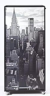 SIMMOB Armoire Informatique Mobile Noire 2 Tiroirs - Coloris - New York 500, Bois