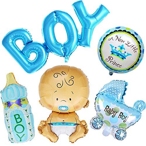 Ouinne 5 Pezzi Baby Shower Palloncini Helium Battesimo Birthday Party Decor
