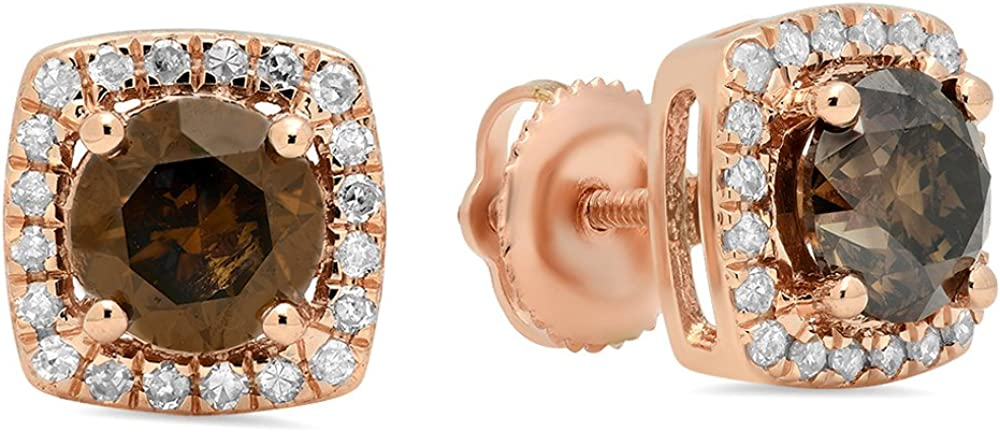 Fingalo 1.80 Carat ctw 14K Rose Gold Champagne Sales results Regular store No. 1 Round D White