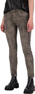 MONARI Pantaloni con stampa allover marrone, taglia