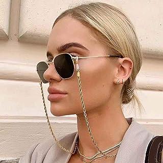 Sethexy Or Chaîne de lunettes Mode Tourner Chaîne de masque facial Femmes Chaîne de lunettes de soleil Accessoires pour Lu...