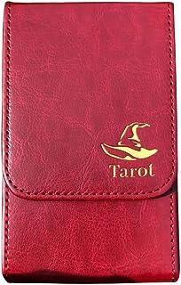 Tarot Carte Rangement Étui, Boite, Double Couche Étui pour Pont Cartes, Universel Stockage Organisateur Cuir PU Poker Et T...