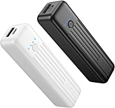 Miady 2-Pack Portable Charger 5000mAh, 3.45oz Lightweight Power Bank, 5V/2.4A Output & 5V/2A Input Battery Pack Charger, M...