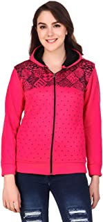 Kiba Retail Woolen Blend Casual Wear Full Sleeves Sweatshirt for Girl's/Women's, Pack-1 (Color-Multicolor,Size-S, M, L, XL)