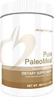 Designs for Health Pure PaleoMeal - Vanilla Bone Broth Protein Powder, 17g Bone Broth Protein with Active Folate + Chelated Minerals (15 Servings / 480g)