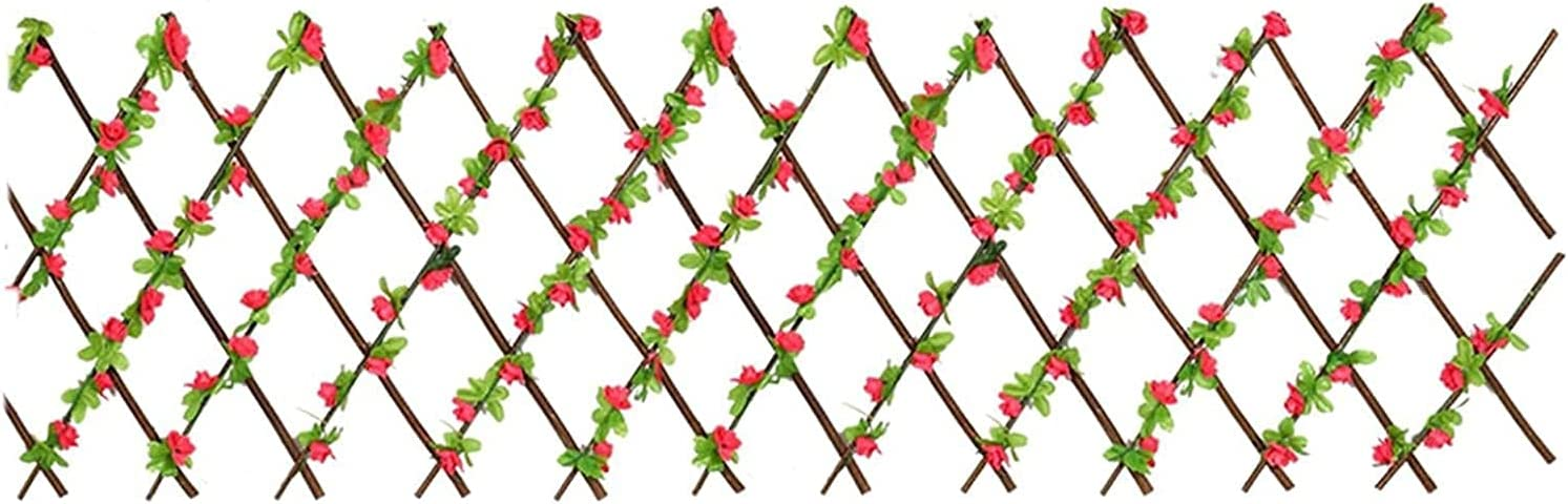 AACXRCR Expanding Artificial Max 86% OFF Fence - Leaf Buds Flower Pan low-pricing Hedges