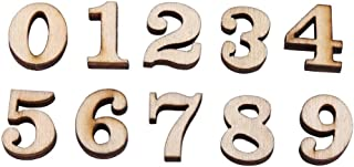 200Pcs Mixed Wooden A-Z Letters/0-9 Numbers for DIY Craft Home Decor Kids Early Educational Learning Toys Games(Numbers)