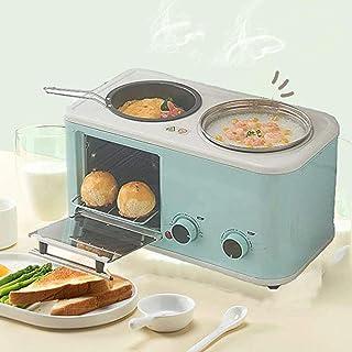 Qinmo Horno eléctrico, horno eléctrico que cocina la 3 en 1, máquinas multifuncionales Pan Makers, sartén eléctrica Sandwich temperatura constante inferior for hornear antiadherente