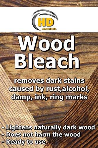 Holzbleichmittel – entfernt dunkle Flecken und Flecken von Holzmöbeln, Eichenholz, 500 ml
