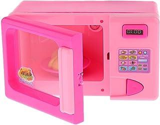 Baosity 1x Plastic Mini Microwave Oven Fan Model Kids Role Play Pretend Funny Toys