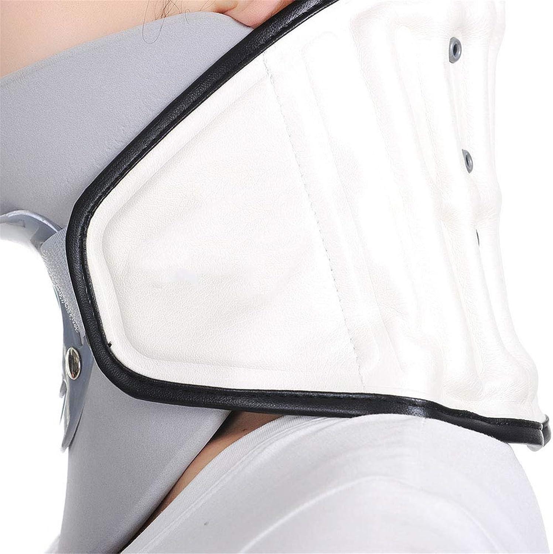 SHKY Halswirbelhalszugvorrichtung Aufblasbarer, Verstellbarer Stehkragen, für Nackenschmerzen, Dehnübungen und Dekompression der Nackensteifigkeit für Overdoor Home Use,Weiß,A