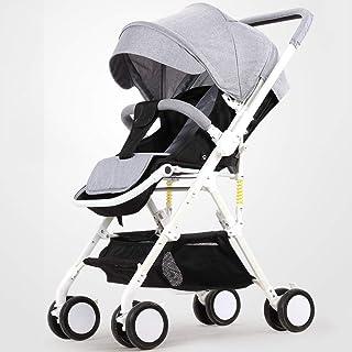 Lätt barnvagn med vändbart styre, bärbar hopfällbar vagn resa buggy från födseln till 15 kg–c