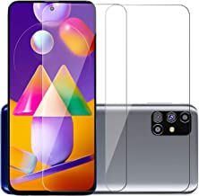 POPIO Tempered Glass for Samsung Galaxy M31s (Transparent) Full Screen Coverage (except edges), Pack of 2