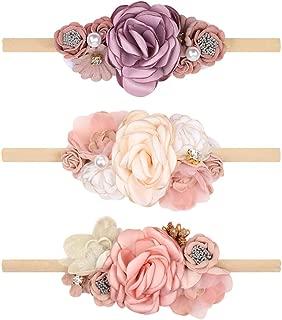 Floral Headbands For Baby Girls Lightweight Flower Nylon...