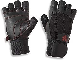 Valeo Ocelot Wrist Wrap Glove, Black, Small