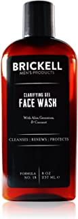 Brickell Men's Clarifying Gel Face Wash for Men - Natural & Organic Facial Cleanser - 8 oz